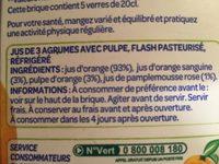 100% Pur Jus Pressé 3 AGRUMES AVEC PULPE - Ingredients - fr