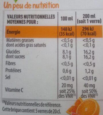 100% Pur Jus Pressé 3 AGRUMES AVEC PULPE - Nutrition facts - fr