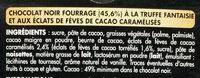 Noir truffé fantaisie - Ingrédients