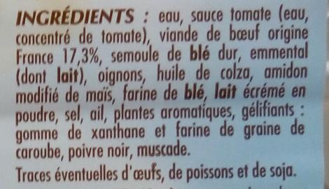 Lasagne à la bolognaise - Ingredients - fr