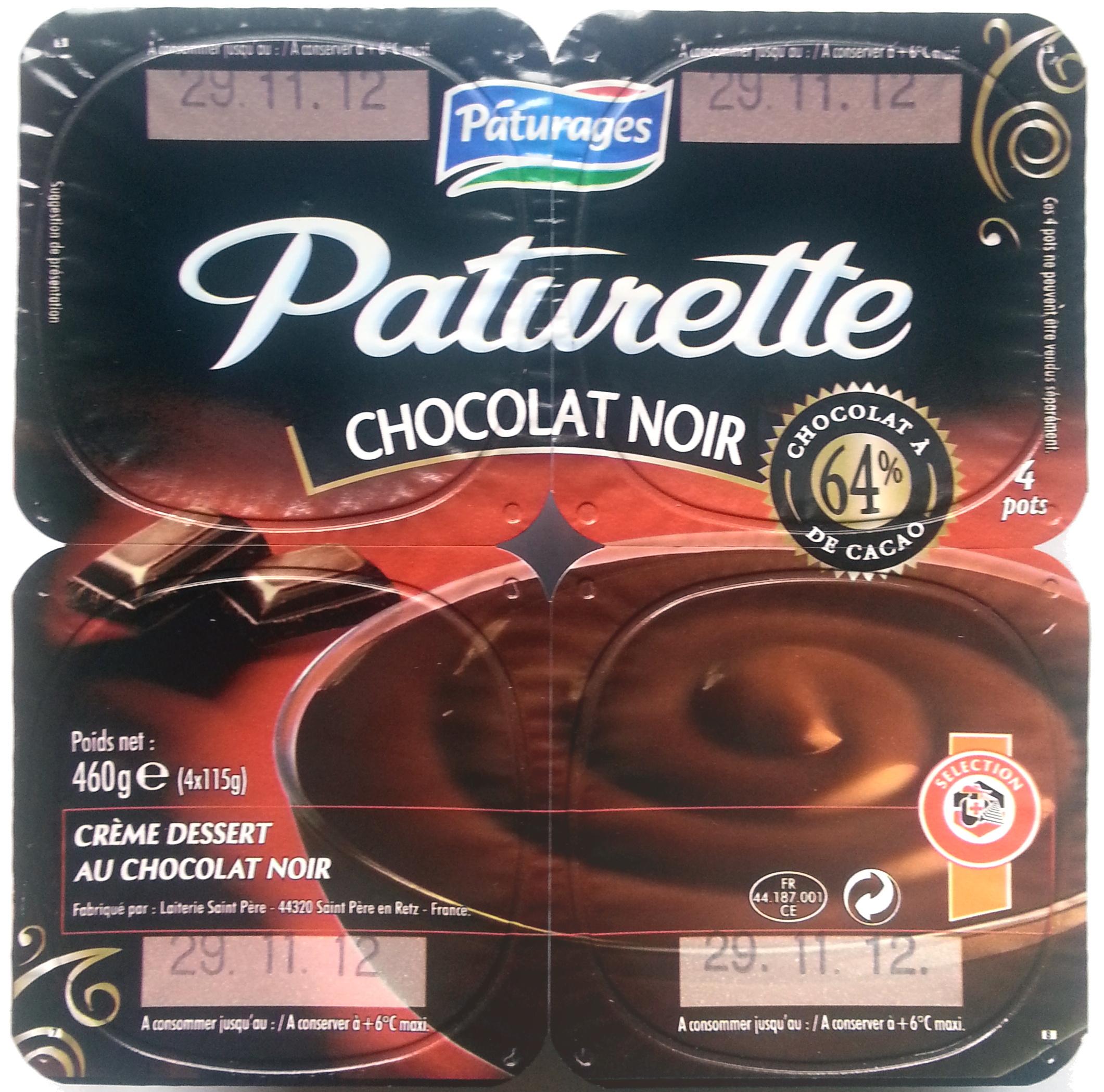 Paturette Chocolat Noir - Produit - fr