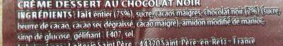 Paturette Chocolat Noir - Ingrédients - fr