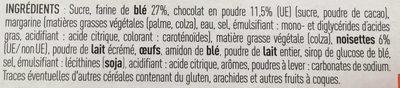 Sablés fourrés chocolat noisette - Ingredients