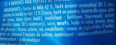 Brioche Pépites de Chocolat - Ingredients - fr
