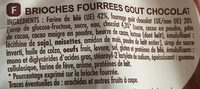 Brioches Fourrées goût chocolat (x 8) 310 g - Chabrior - Ingredients