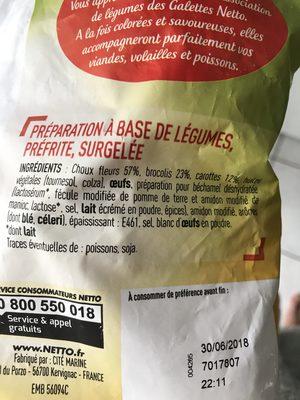 Galettes aux Légumes - Ingrédients - fr