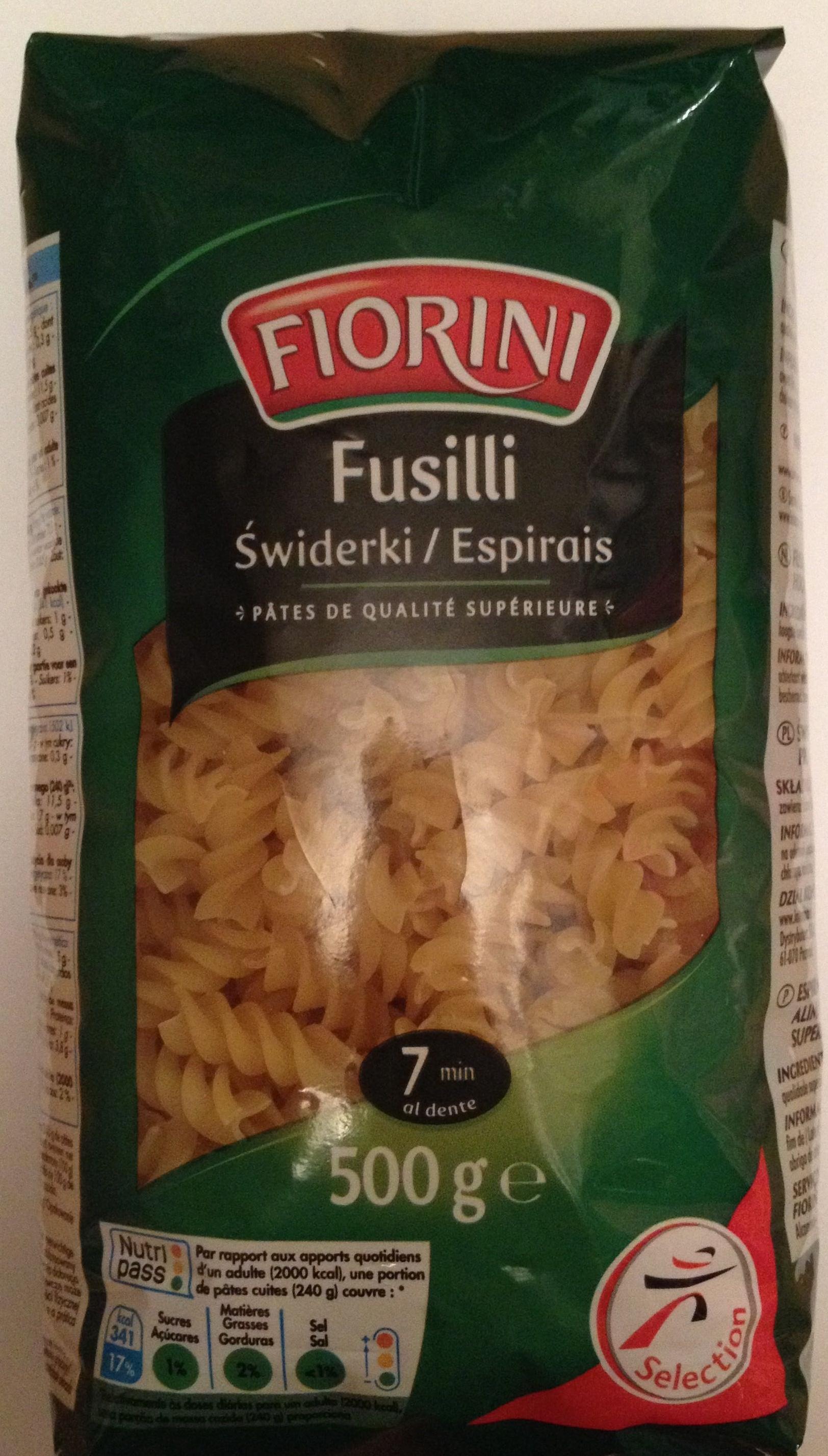 Fusilli (Pâtes de qualité supérieure) - Produit - fr