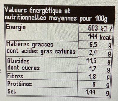 Couscous poulet et merguez - Voedingswaarden - fr