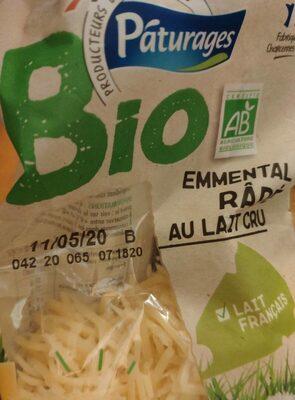 emmental râpé au lait cru bio - Produit - fr
