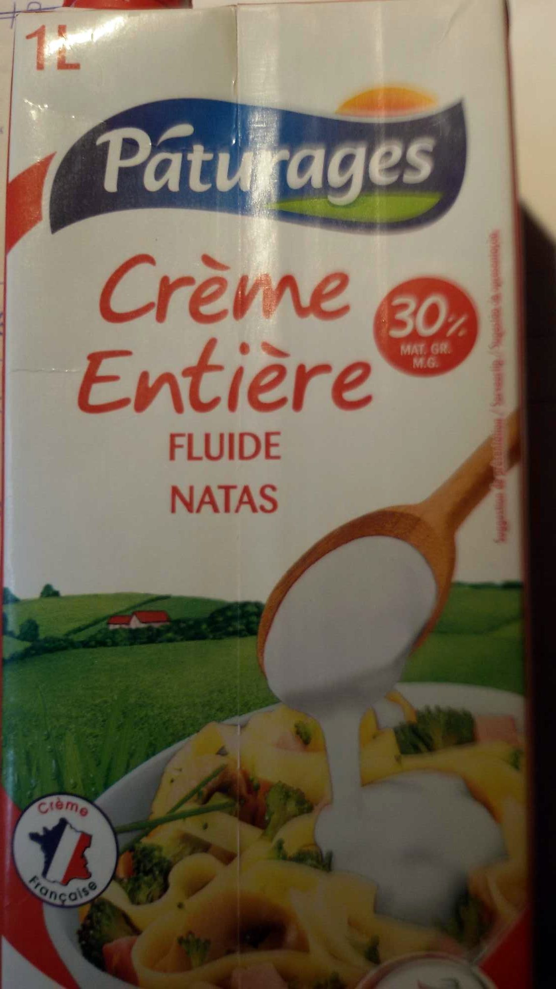 Crème entiere fluide 30% - Produit - fr