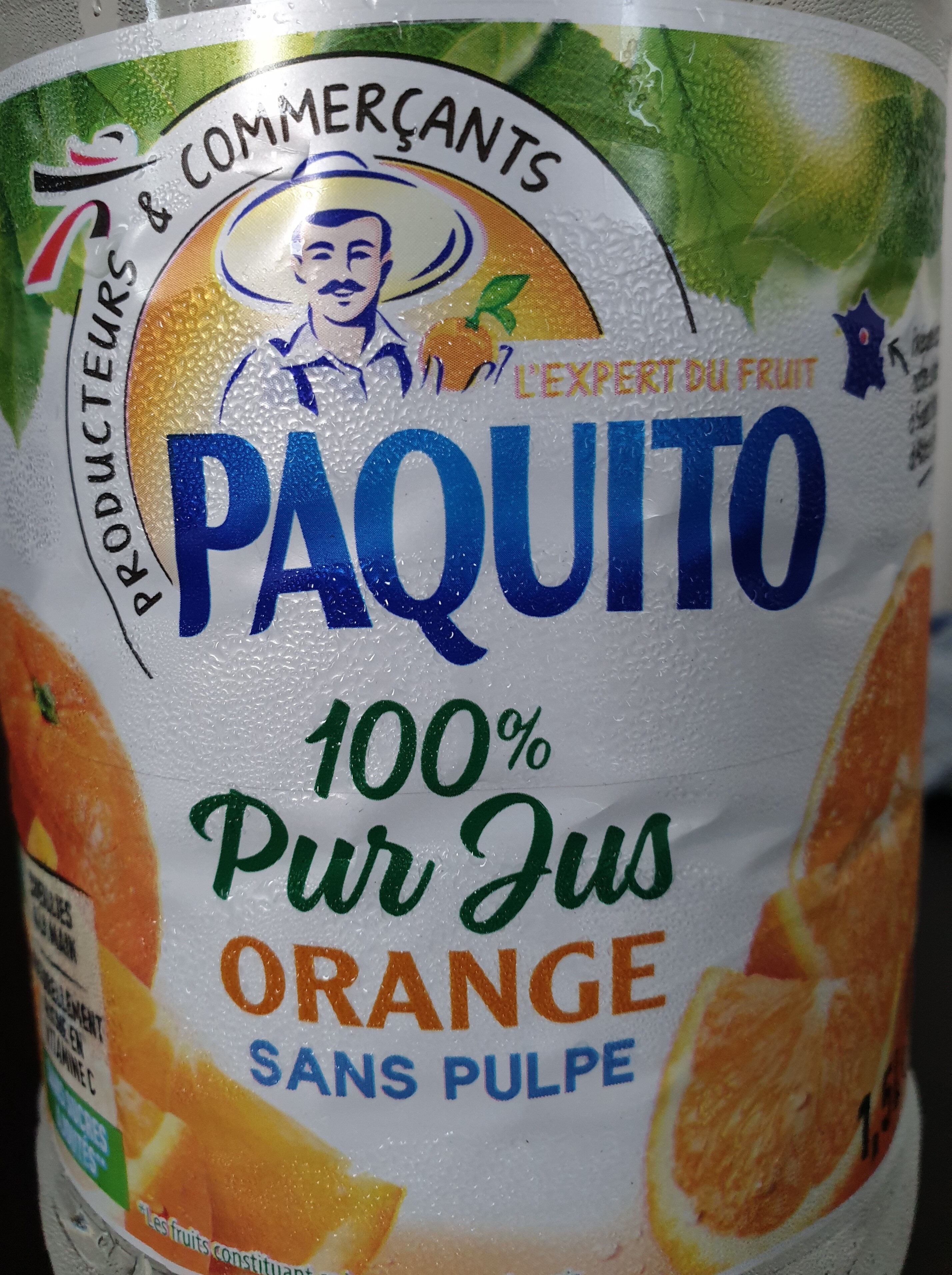 100% Pur Jus Orange sans pulpe - Product - fr