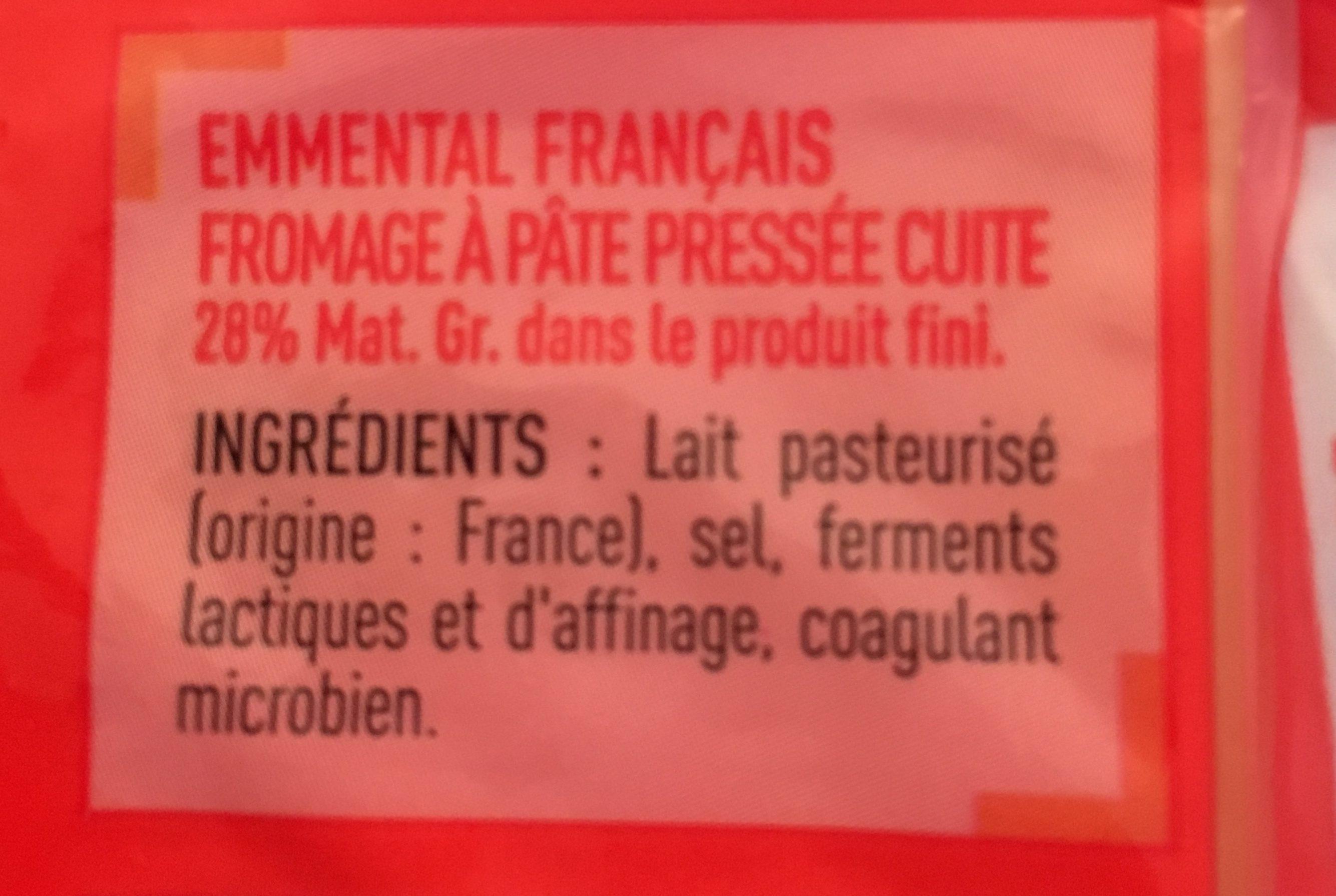 Emmental Français - Ingrediënten - fr