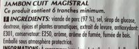 Jambon cuit artisanal - Ingredients - fr