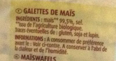 Galettes de Maïs - Ingrédients - fr
