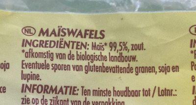 Galettes de Maïs - Ingrediënten