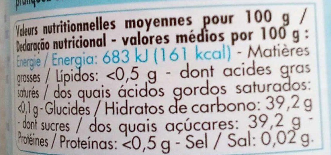 Confiture allegée - Voedingswaarden - fr