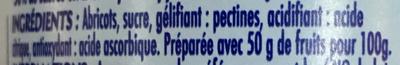 Confiture allégée Abricot (+15% gratis) - Ingrediënten