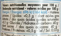 Confiture allégée Abricot (+15% gratis) - Voedingswaarden