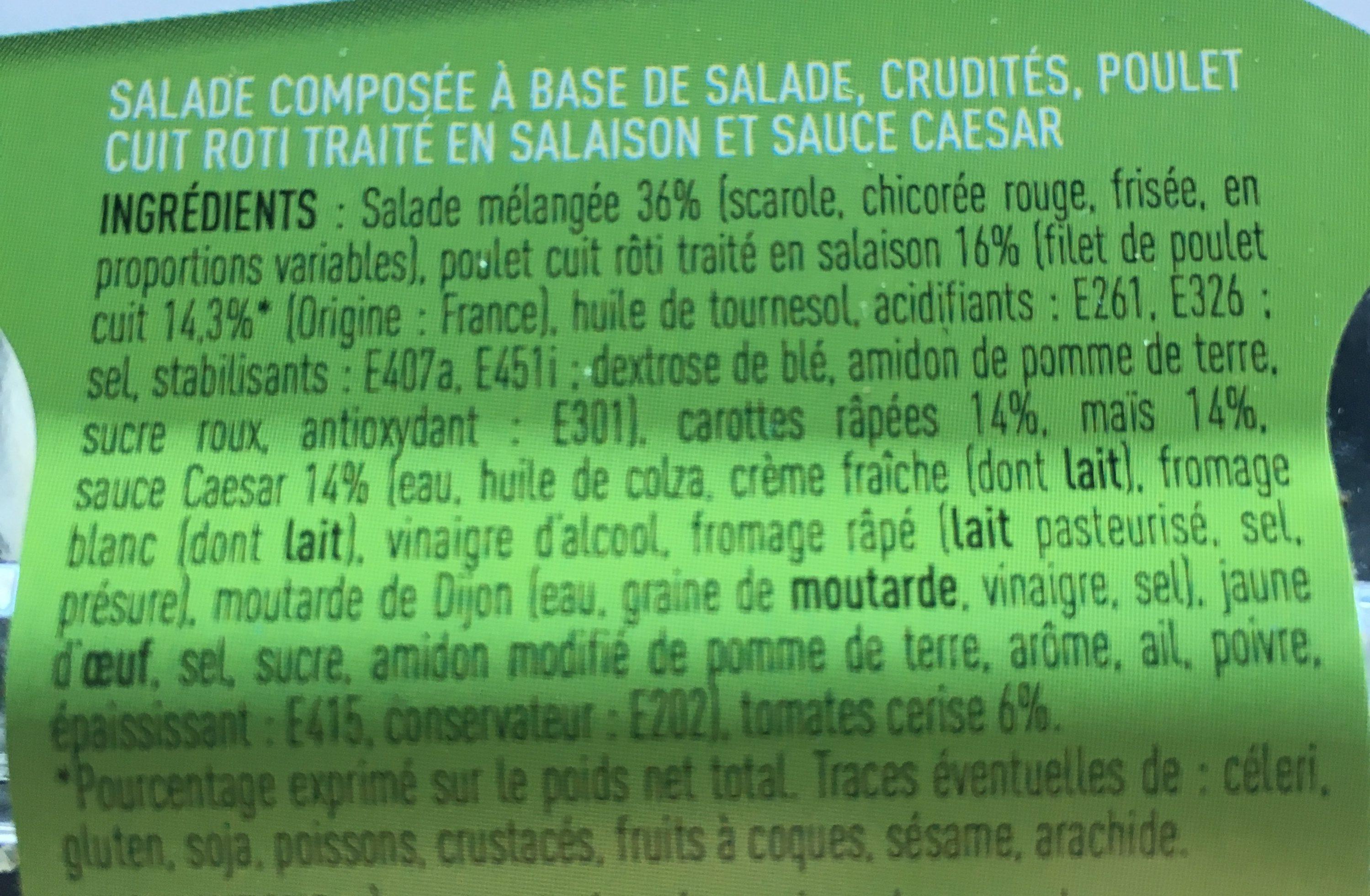 Salade Poulet Crudit?s - Ingredients