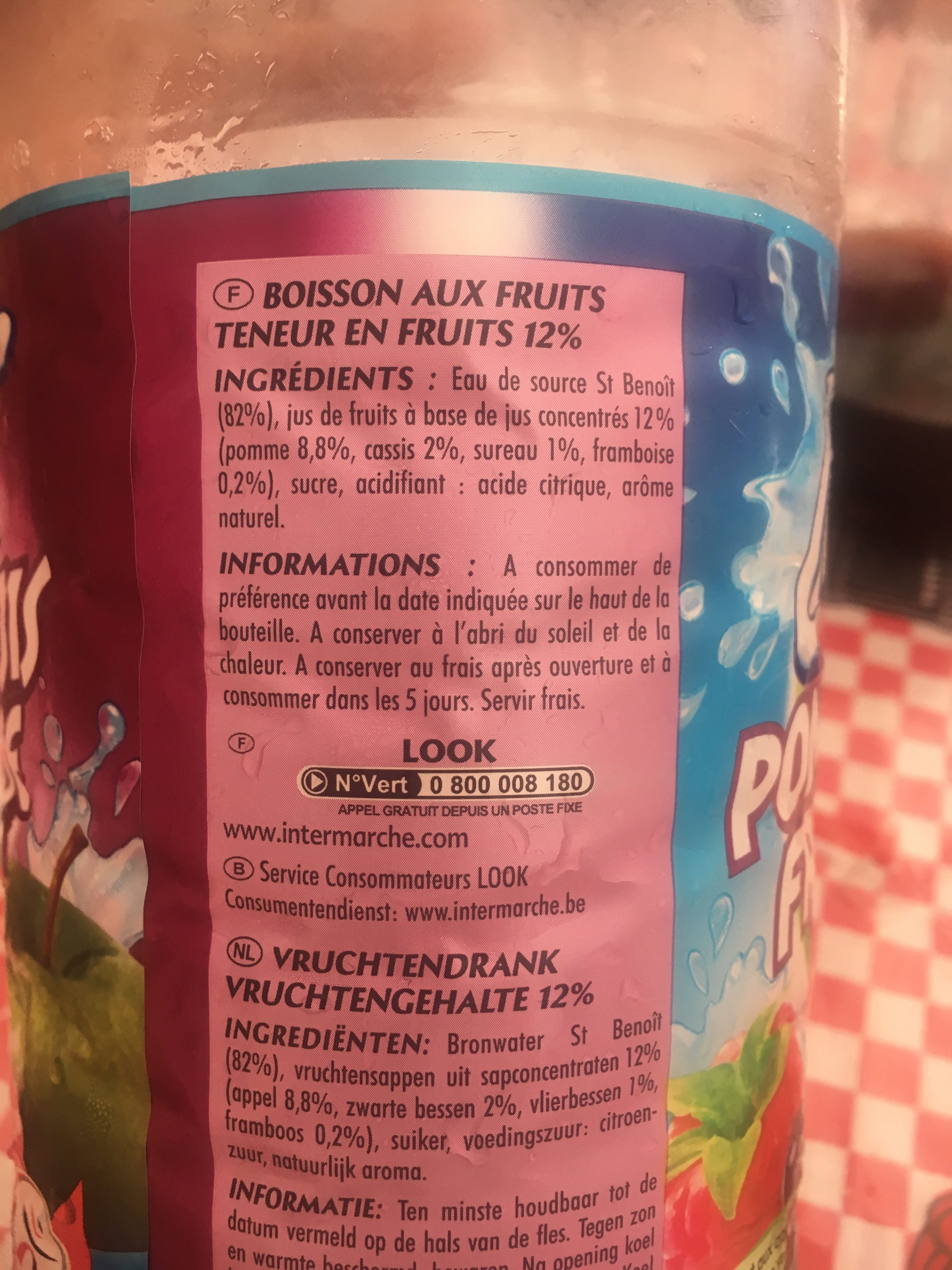 Saveur Pomme Cassis Framboise - Ingredienti - fr