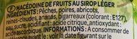 Bocal salade de fruits - Ingredients