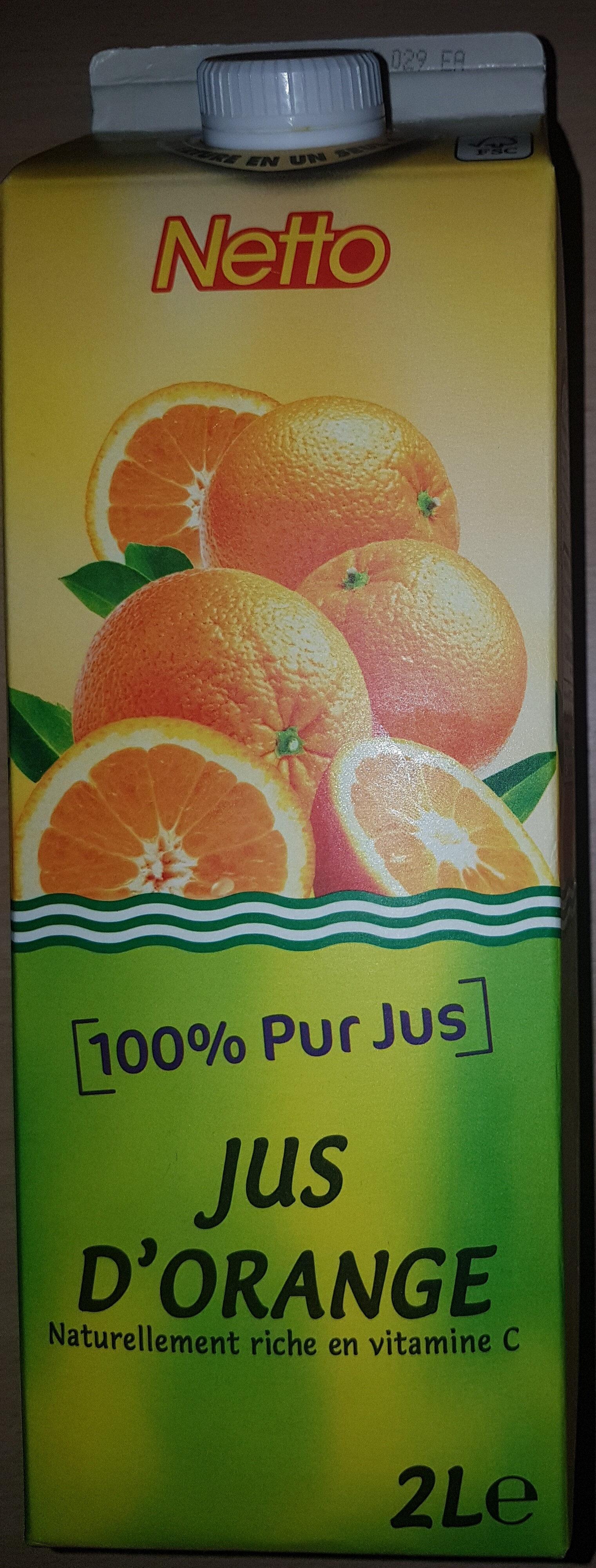 Jus d'orange 100% pur jus 2L - Product - fr