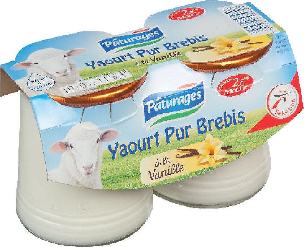Yaourt pur brebis vanille - Produit - fr