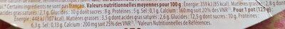 Yaourt pur brebis vanille - Informations nutritionnelles - fr
