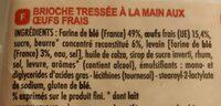 Brioche tressée à la main aux oeufs frais - Ingrédients - fr