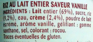 Riz au lait - Ingrediënten