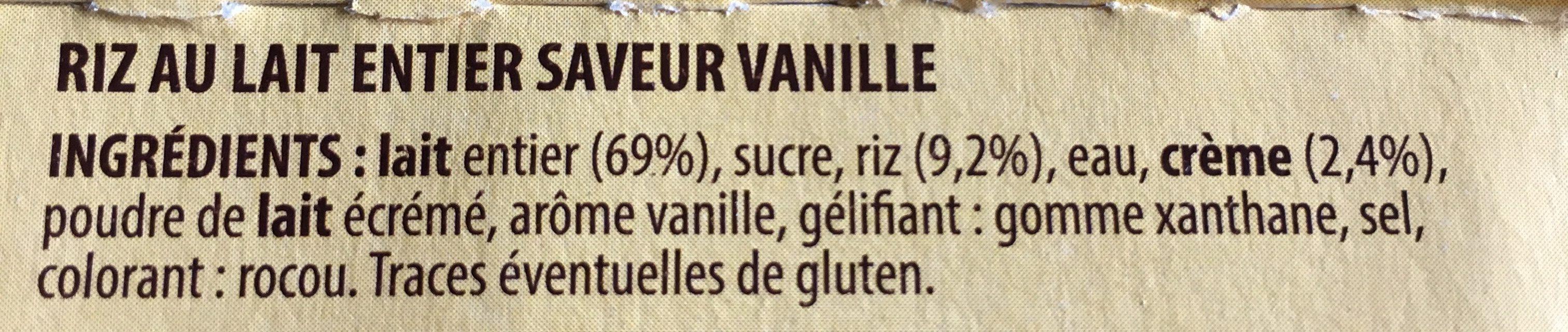 Riz au lait - Ingrediënten - fr