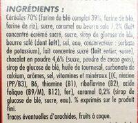 Céréales soufflées caramel & chocolat - Ingrédients