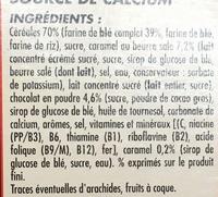Céréales soufflées caramel & chocolat - Ingredientes