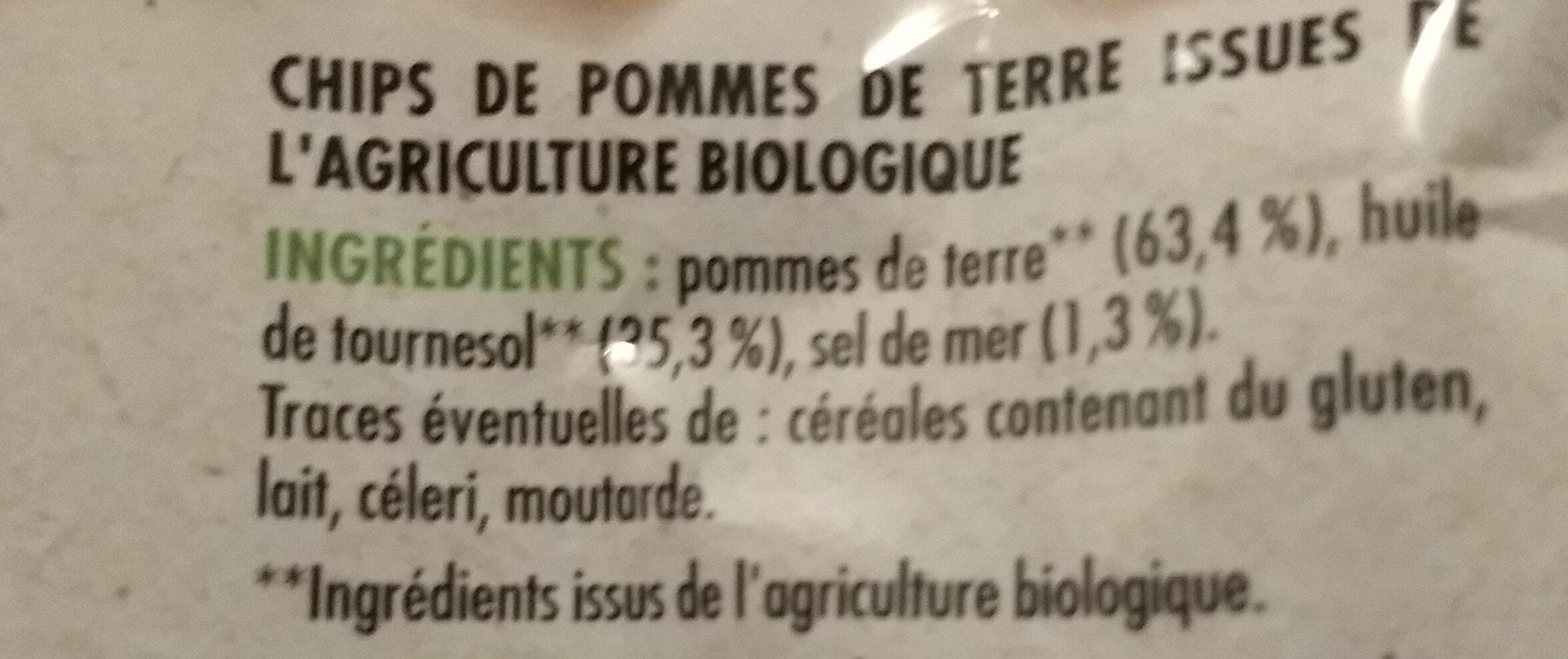 Chips bio - Ingrediënten