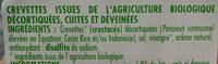 Crevettes décortiquées et cuites - Ingrediënten - fr