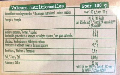 Spécialité Au Soja Nature, Les 6 Pots De 100g - Nutrition facts