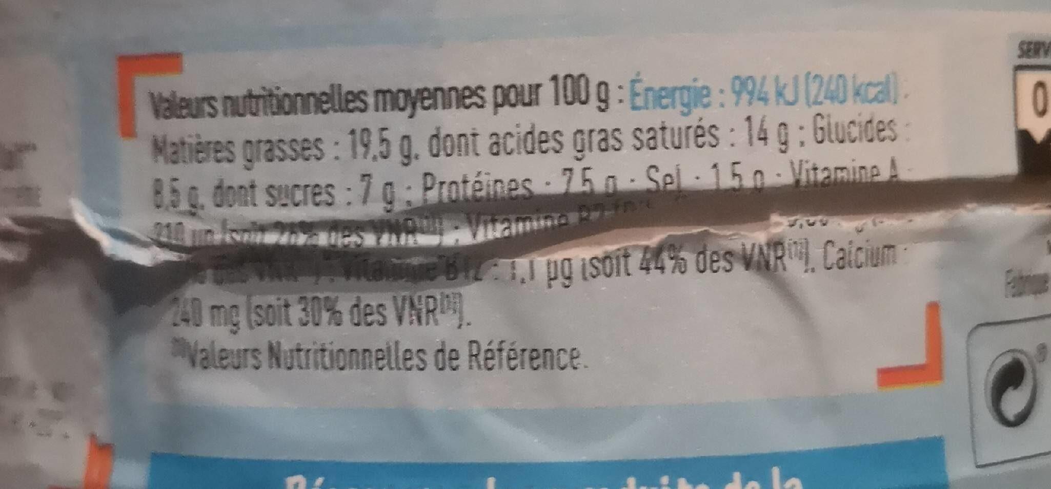 Les P'tits Fondus - Informations nutritionnelles - fr