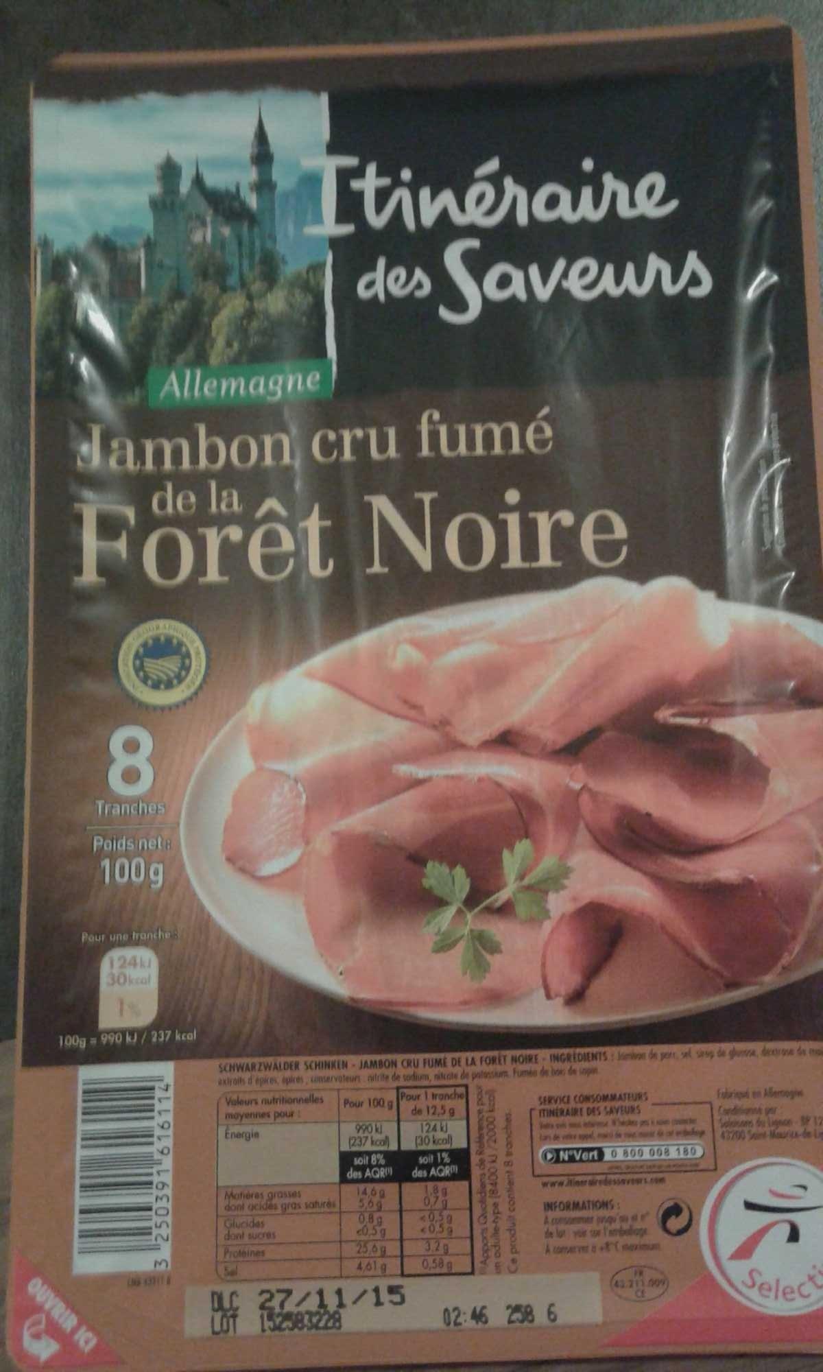 Jambon cru fumé de la forêt noire - Product - fr