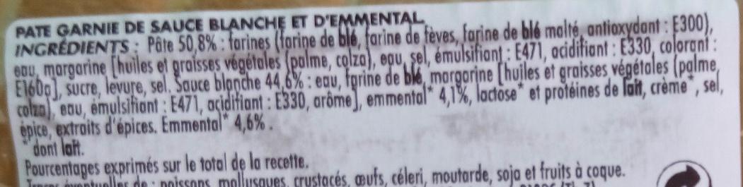 2 Roulés au fromage - Ingrédients - fr