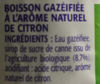 Limonade - Ingrédients - fr