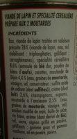 C.leg Lapin aux deux moutardes - Ingrédients