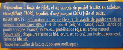 Nuggets aux filets de poulet - Ingredients - fr