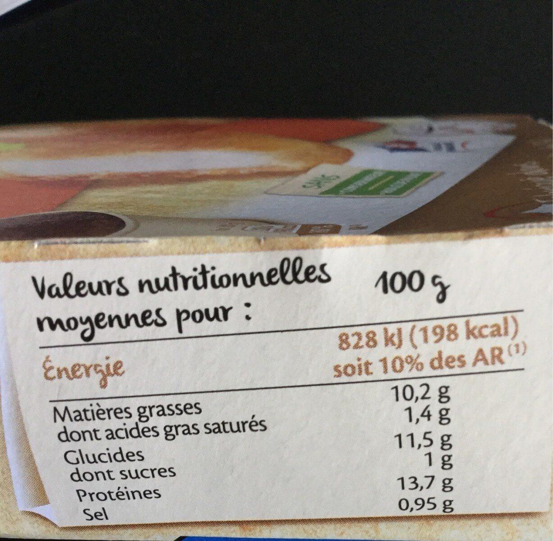 Nuggets aux filets de poulet - Nutrition facts - fr