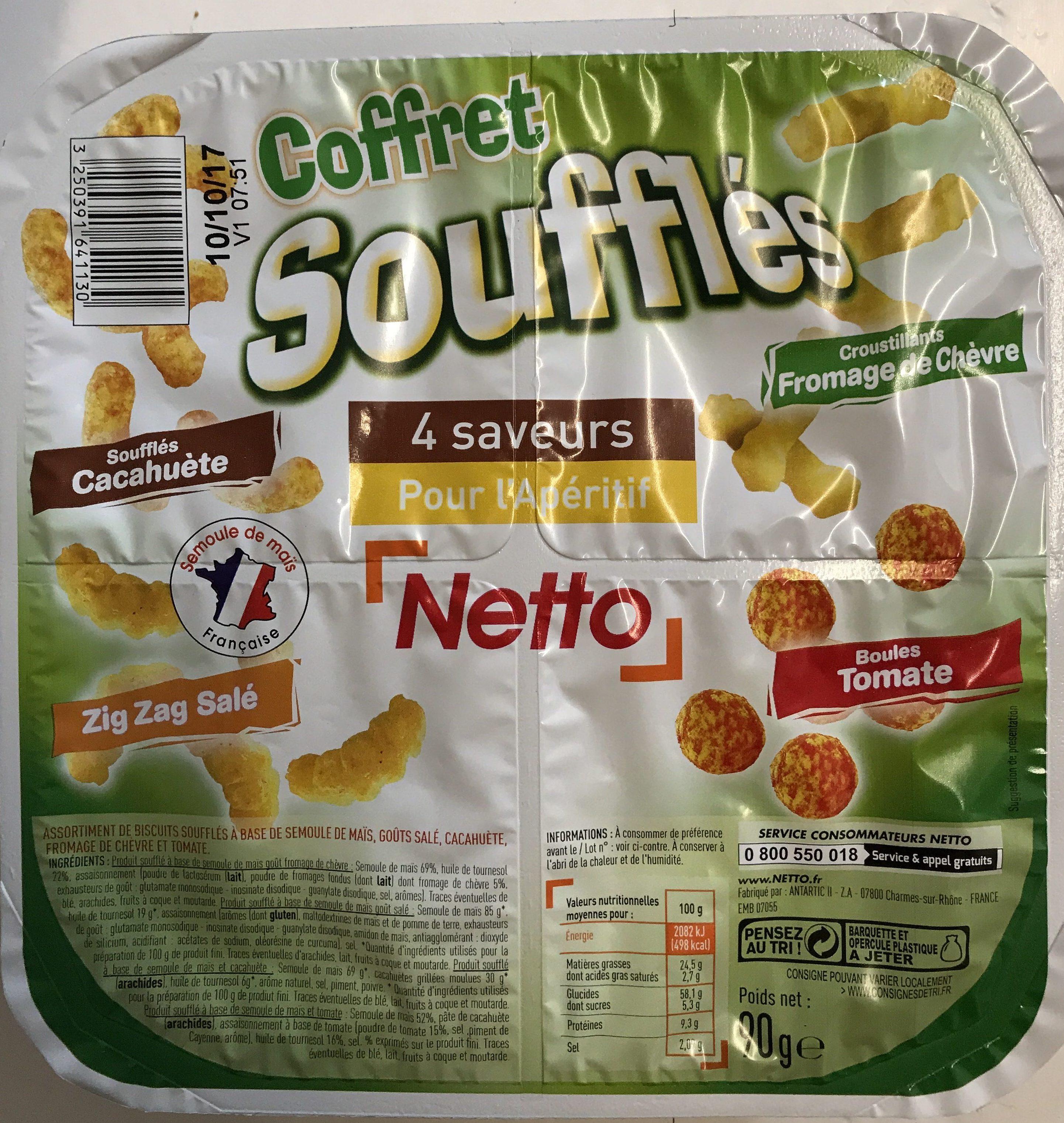 Coffret souflés 4 Saveurs - Produit - fr