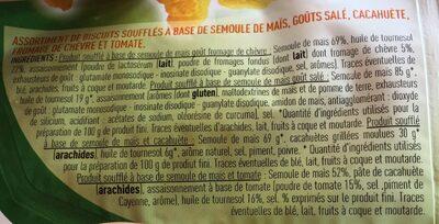 Coffret souflés 4 Saveurs - Ingrédients - fr