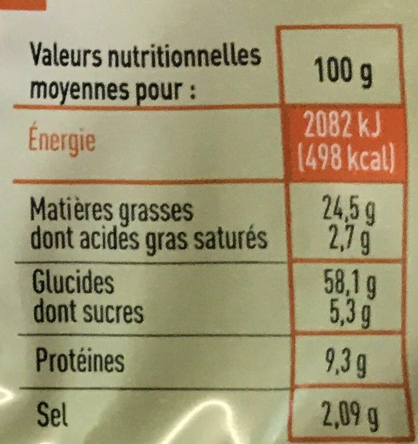 Coffret souflés 4 Saveurs - Informations nutritionnelles - fr