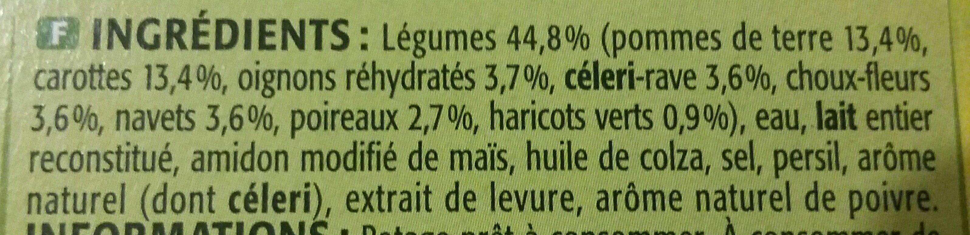 Mouliné Légumes Variés - Ingredients
