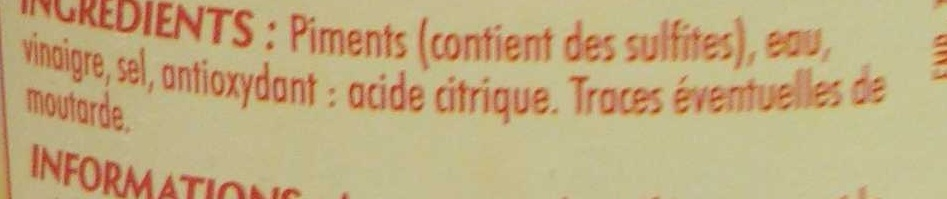 Mini piments rouges - Ingrediënten