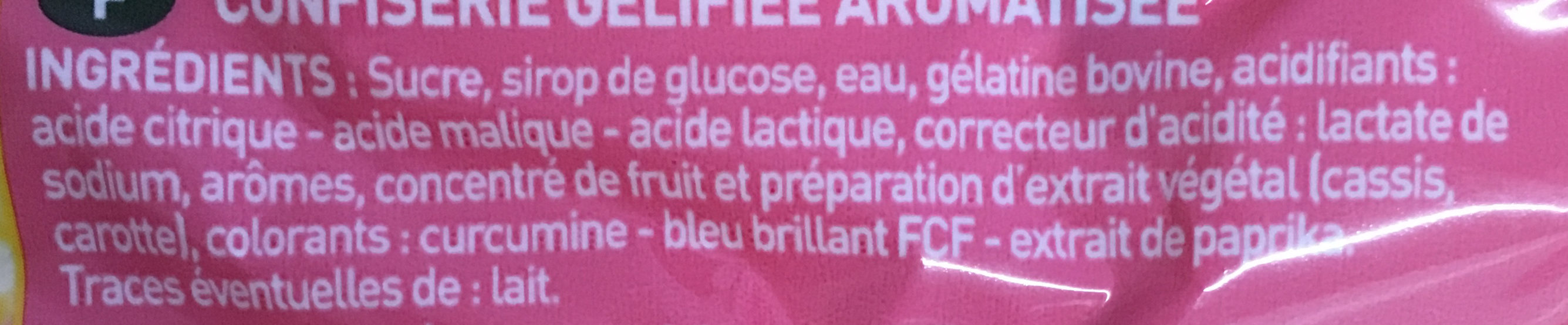Luciole Tix Piquant - Ingredients - fr
