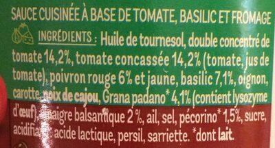 Pesto Rosso - Ingrédients - fr